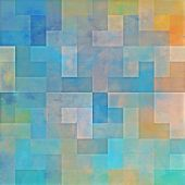 art abstract colorful geometric pattern background in blue and yellow colors