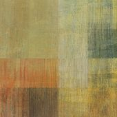 art abstract geometric textured colorful background with square in beige and green colors