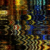 art abstract colorful graphic background; geometric border srylized pattern in gold, yellow, brown a