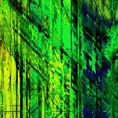 art abstract grunge painted background in gold, green and black colors