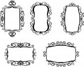 Vintage frame in victorian style