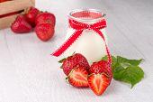 Homemade Yogurt And Strawberries