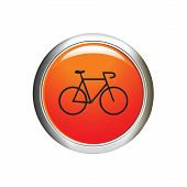 Bicycle icon. Internet Button. Vector Illustration