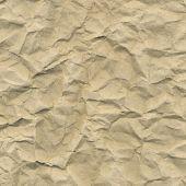 Cardboard Crushed Paper, Vector Illustration