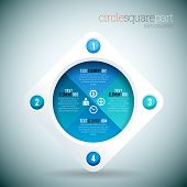 Circle Square Part Infographic