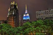 Manhattan Skyscrapers At Night