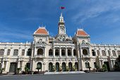 Abstract of people's Committee of Ho Chi Minh city on day, historic destination