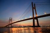 foto of bridge  - Phu My bridge at Saigon  - JPG
