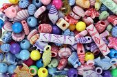 Color beads as background