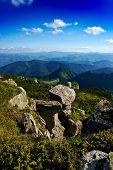 beautiful mountain landscape in Ceahlau,  Romania