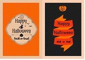 Happy Halloween greeting cards set