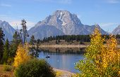 Jackson lake in Grand Tetons national park