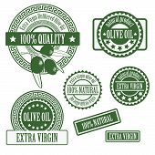 Set collections of labels for olive oil
