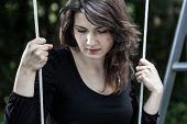 Portrait Of Sad, Swinging Woman