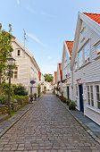 Street Of Gamle (old) Stavanger, Norway