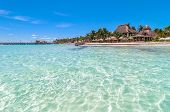 image of northeast  - famous Playa del Norte beach in Isla Mujeres - JPG