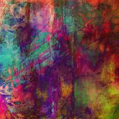 art abstract rainbow watercolor background with gold, pink and violet colors