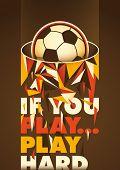 Conceptual football poster design. Vector illustration.