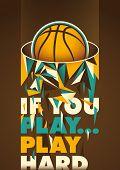 Conceptual basketball poster. Vector illustration.