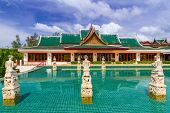 KOH KHO KHAO, THAILAND - 10 NOV 2012: Oriental architecture of Andaman Princess Resort & SPA. Hotel