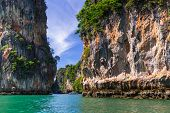 PHANG NGA BAY, THAILAND - 8 NOV 2012: Scenery of Phang Nga National Park in Thailand. This national