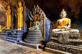 PHANG NGA, THAILAND - 8 NOV 2012: Wat Tham Suwan Khuha cave. This natural temple with several large