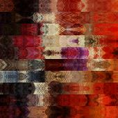 art abstract colorful graphic background; geometric border stylized pattern in orange, red, white an