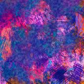 art abstract colorful acrylic and pencil background in pink, blue and violet  colors