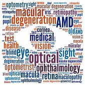Macular Degeneration in word collage