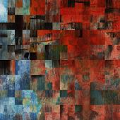 art abstract colorful geometric pattern background in red, orange and brown colors