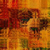 art abstract colorful geometric pattern; tiled background in gold, red and brown colors