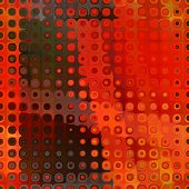 art abstract pixel geometric seamless pattern; background in red and green colors
