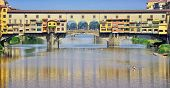 Close view of famous Old Bridge in Florence