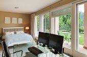 Nice house interior, comfortable bedroom