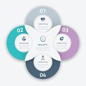 Beautiful four infographic vector circle business option element