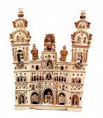 Peruvian church made of clay by artist Mamerto Sanchez