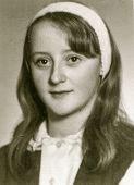 POLAND, CIRCA MARCH 1972 - Vintage photo of young girl