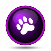 picture of webbed feet white  - Paw print icon - JPG