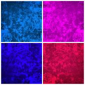 grunge painting background collection set