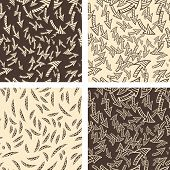 Funky 2 color seamless pattern set
