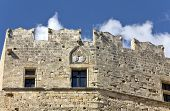 Medieval castle from Lindos, Rhodes island, Greece poster