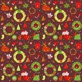 Christmas retro wallpaper