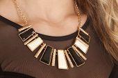 Necklace Black Gold