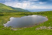 Neasmovyte lake in Carpathian mountains