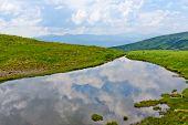 Small lake in Carpathian mountains