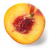 Cut Peach Macro Photo