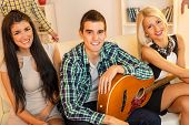 Young Musician With Hot Girls