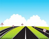 Much roads in field