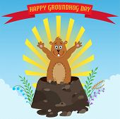 pic of groundhog day  - Happy Groundhog Day - JPG