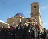 Easter Procession In Elche, Alicante, Valencia. Spain